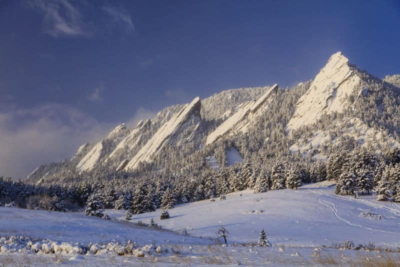 Winter Flatirons