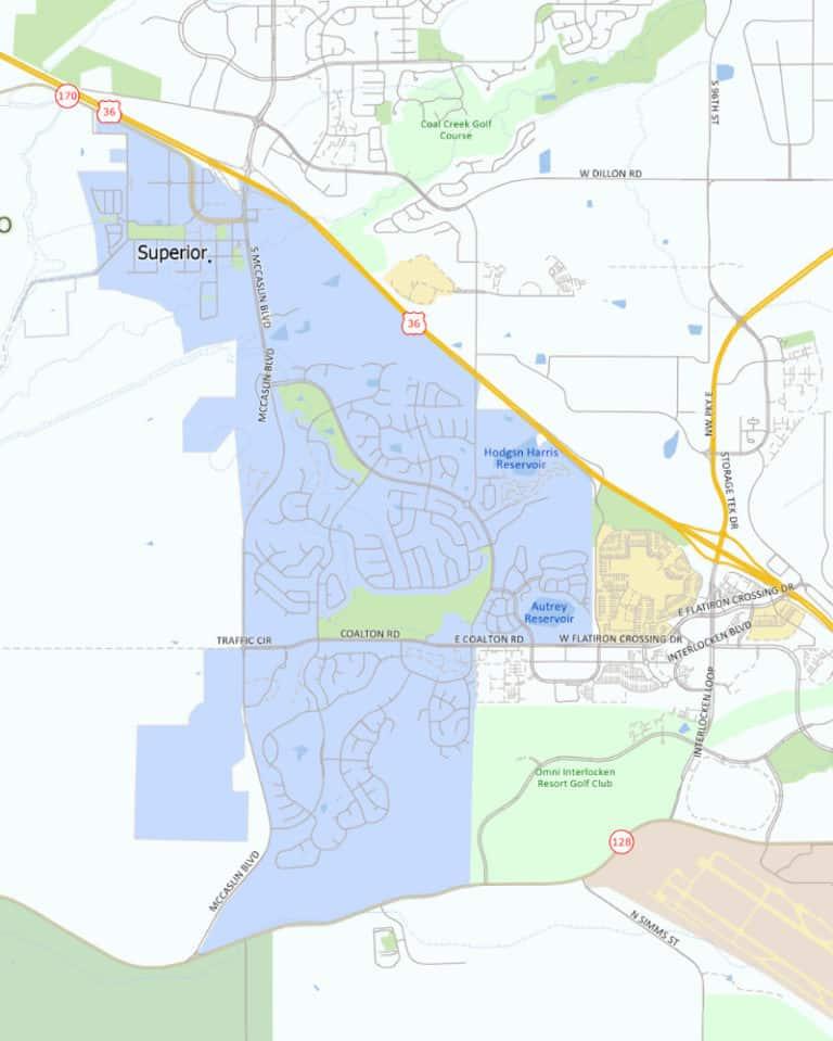 Area map, Superior